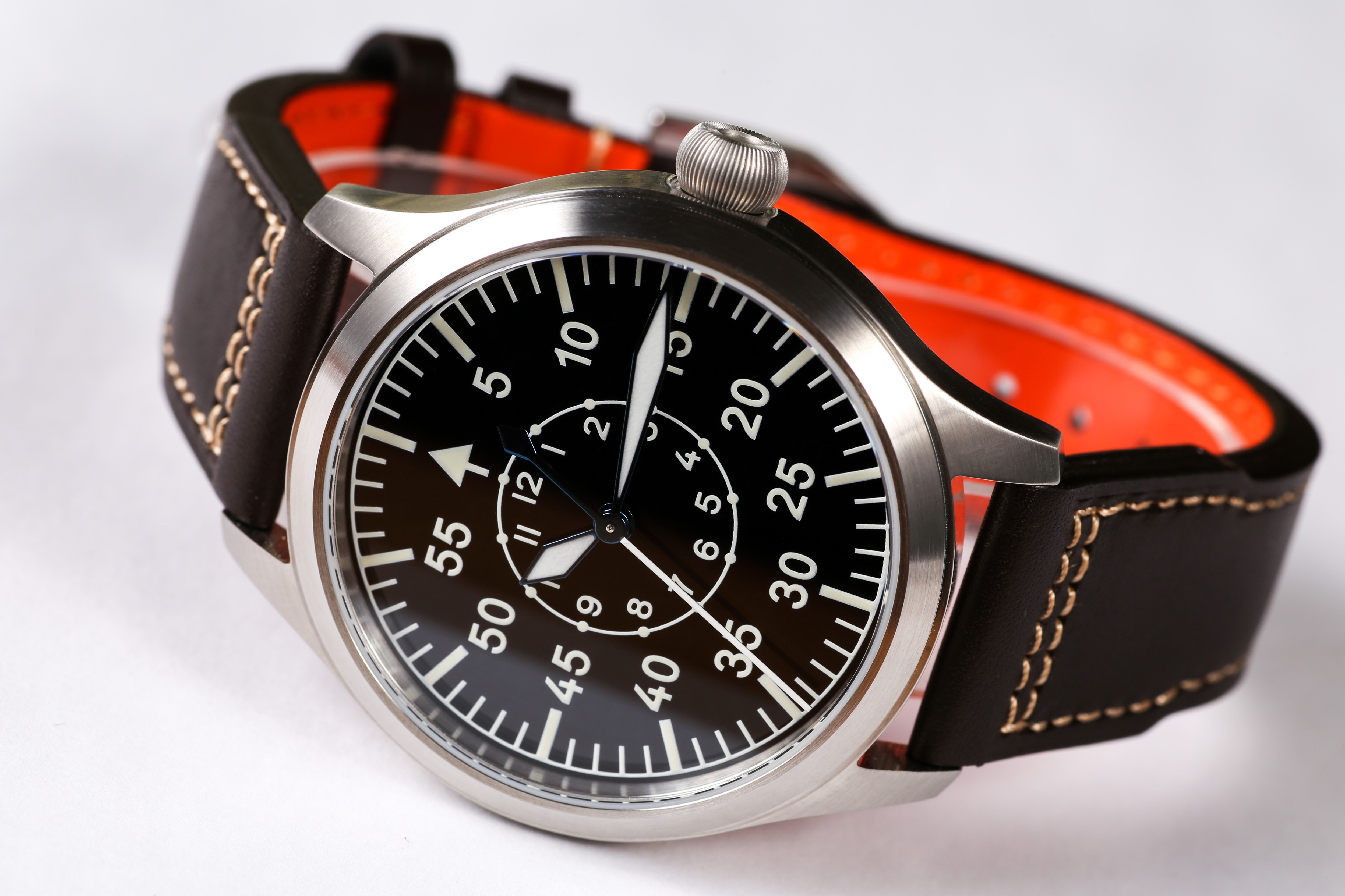 【Escapement Time】Automatic NH35 Movement Pilot Watch with Type-B or Type-A Black Dial and 42mm C
