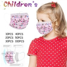 Kids Disposable Good Quality Disposable 3-ply Breathable Face Ma Sk For Lips Care Ear Loops Disposab
