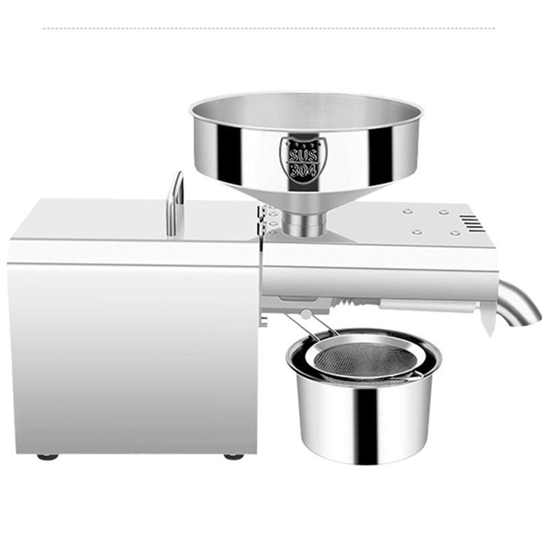 home use stainless steel screw coconut oil presser expeller cold hot press oil machine peanut sesame oil maker 220v or 110v Rg-307 110V / 220V domestic stainless steel oil press household commercial electric small automatic hot and cold oil press