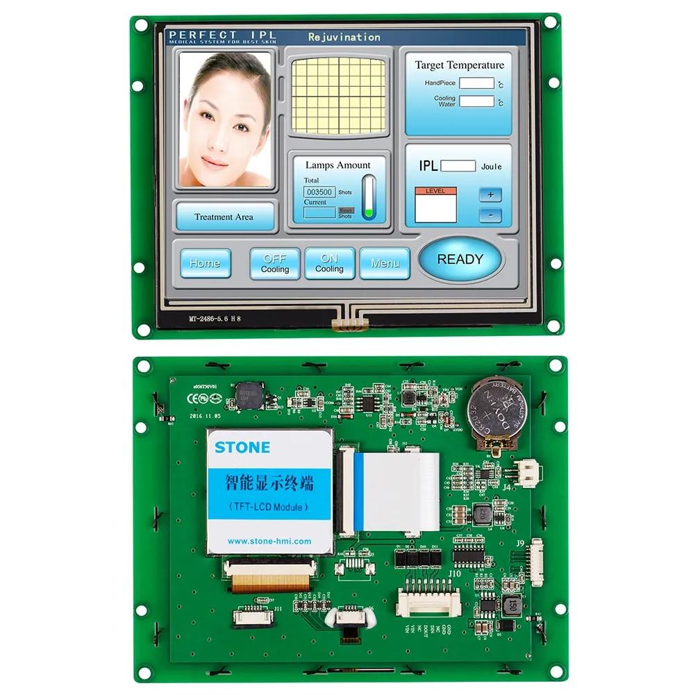 Panneau d'écran tactile résistif 5.6 pouces, avec carte contrôleur + Interface série pour usage industriel, 100 pièces