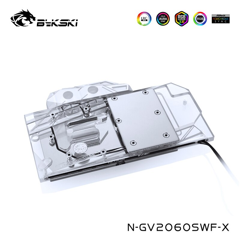 Bykski وحدة معالجة الرسومات كتلة المياه صالح جيجابايت Geforce RTX2070 WINDFORCE 2X 8G ، RTX2060 سوبر Gaiming OC 3X 8 ، N-GV2060SWF-X
