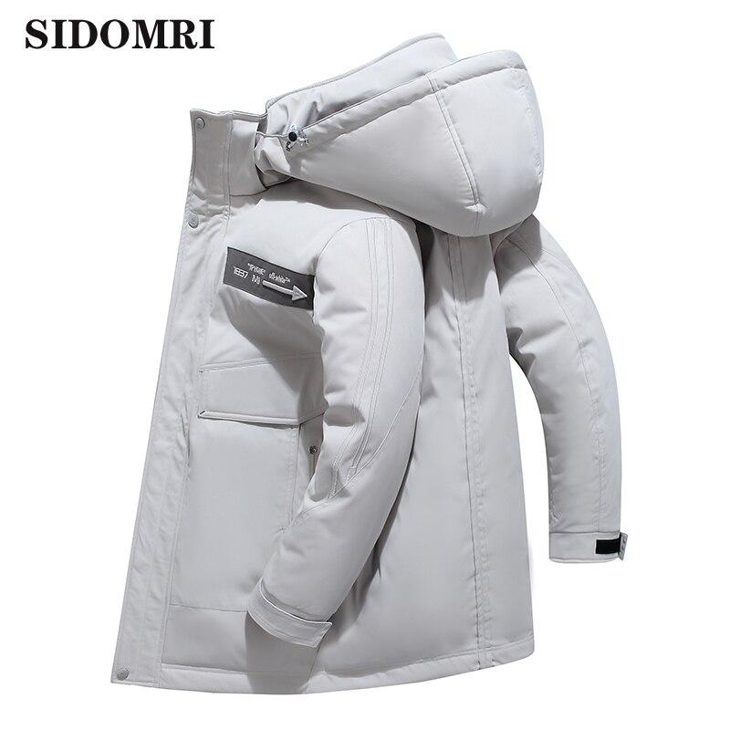 Winter Jackets Men  Thick Warm 90% white duck down Hooded Overcoat Windbreaker waterproof Velvet Jacket high quality