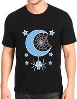 printed t shirt lunar spider short sleeved fashion loose top mens