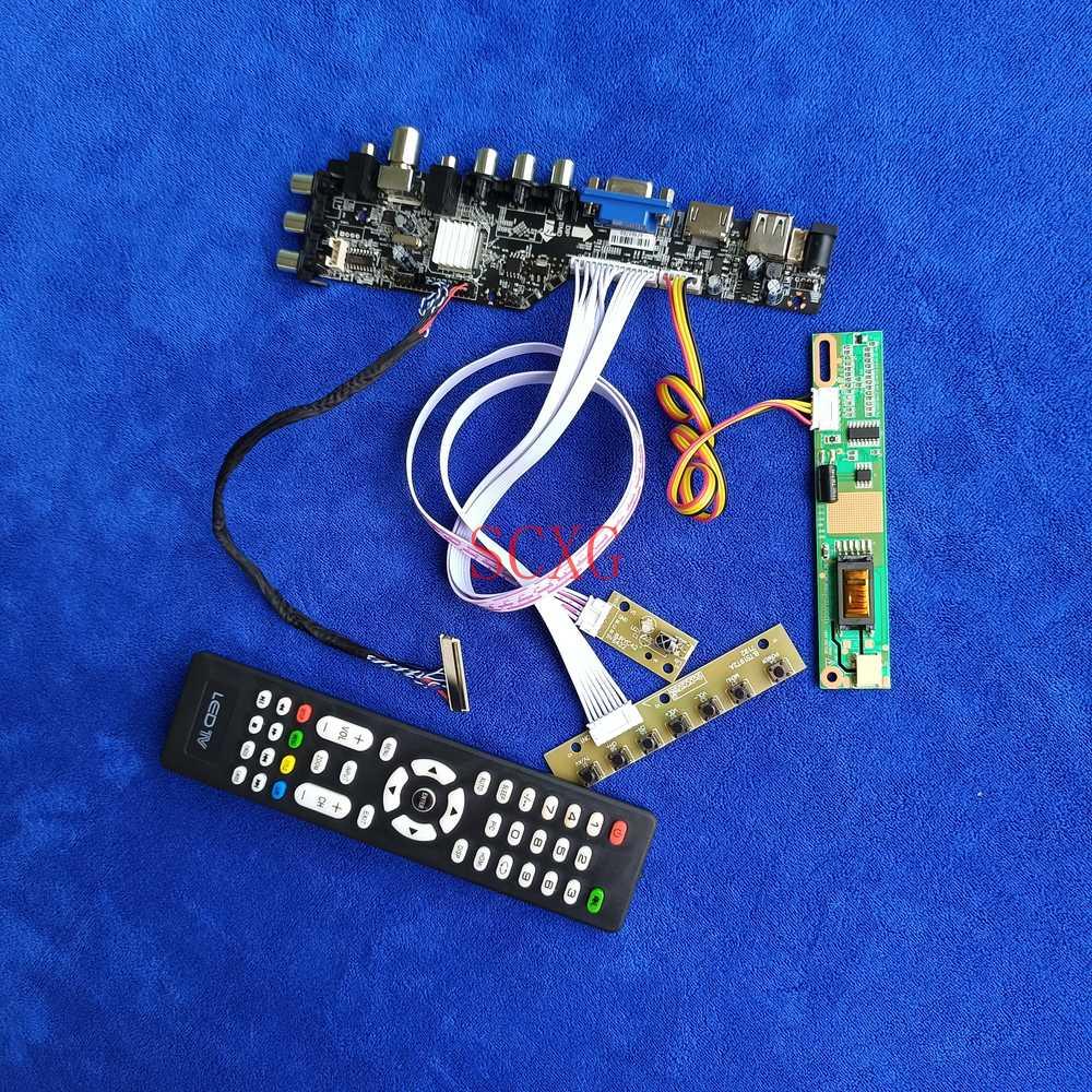 DVB إشارة رقمية HDMI متوافق USB AV VGA 1CCFL صالح LTN170WX/LTN170X2/N170C2/QD17TL02 LVDS 30Pin عدة 1440*900 LCD كارت قيادة