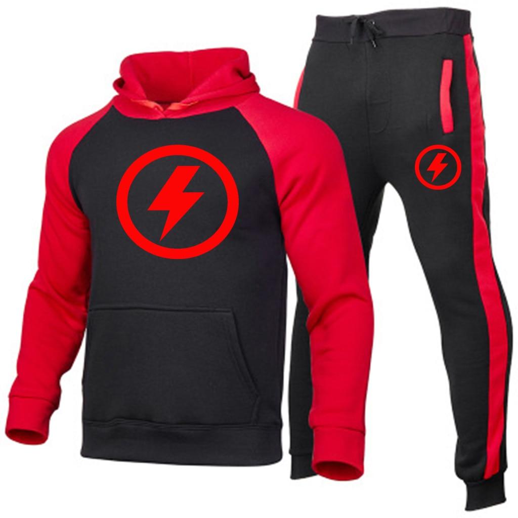 2021 Брендовые мужские костюмы с принтом молнии, мужская тренировочная одежда, спортивная одежда, мужские брюки, мужские костюмы, модный прин...