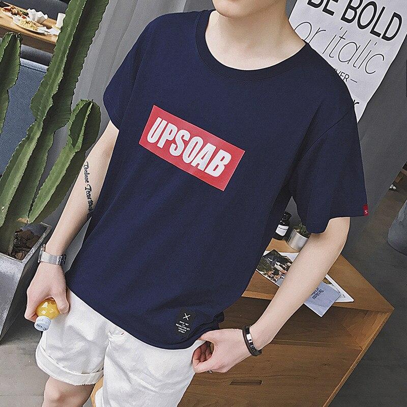 6374-قميص رجالي كم قصير قميص الصيف تي شيرت يحمل علامة البريطانية ملابس قصيرة الأكمام