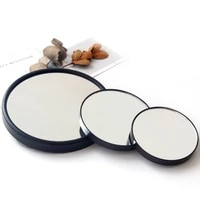 5x 10x 15x portable vanity mini pocket round magnifying makeup mirror desktop suction cup mirror compact cosmetic mirror tools