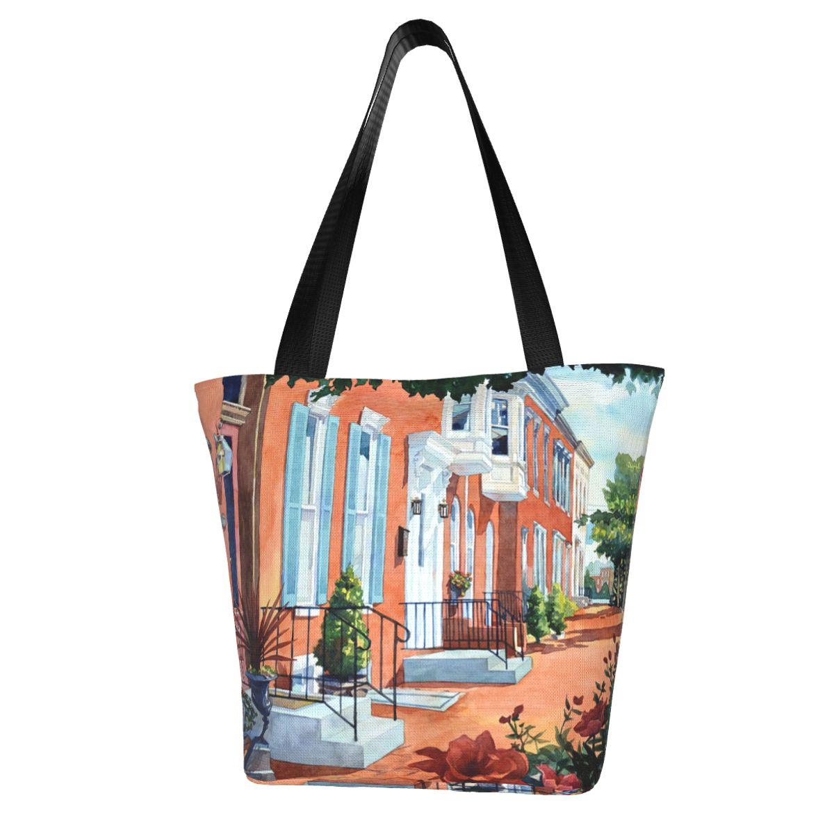 Роза хозяйственная сумка Уличная ткань сумки женские оптом эстетические сумки