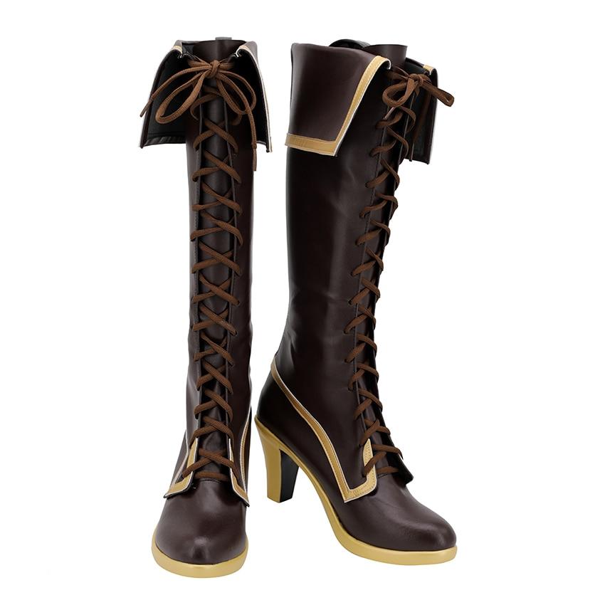 توهو مشروع تأثيري أحذية هيناناوي تنشي عالية الكعب والجلود أحذية عالية حذاء مصنوع حسب الطلب أحذية طويلة