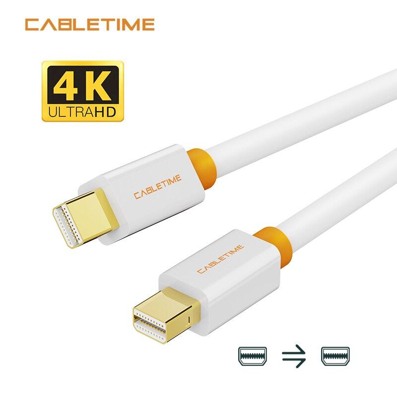 Cabletime Cable Mini DisplayPort puerto de pantalla de Monitor de computadora Cable dp adaptador para Macbook/Mac Lenovo Dell pantalla 4K N021