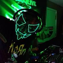 Led Light Up Mask Scary Halloween Mask Election Mascara Costume Cosplay DJ Party Purge Masks for Hal