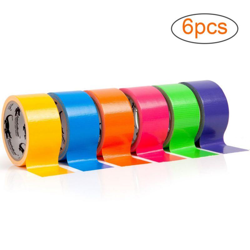 Ruban adhésif multicolore 5x120cm 1 /6 /12 pièces   Bande adhésive multicolore, Kit dart amusant bricolage pour enfants, Set de bandes artisanales, masquage coloré, Cinta rubans adhésifs