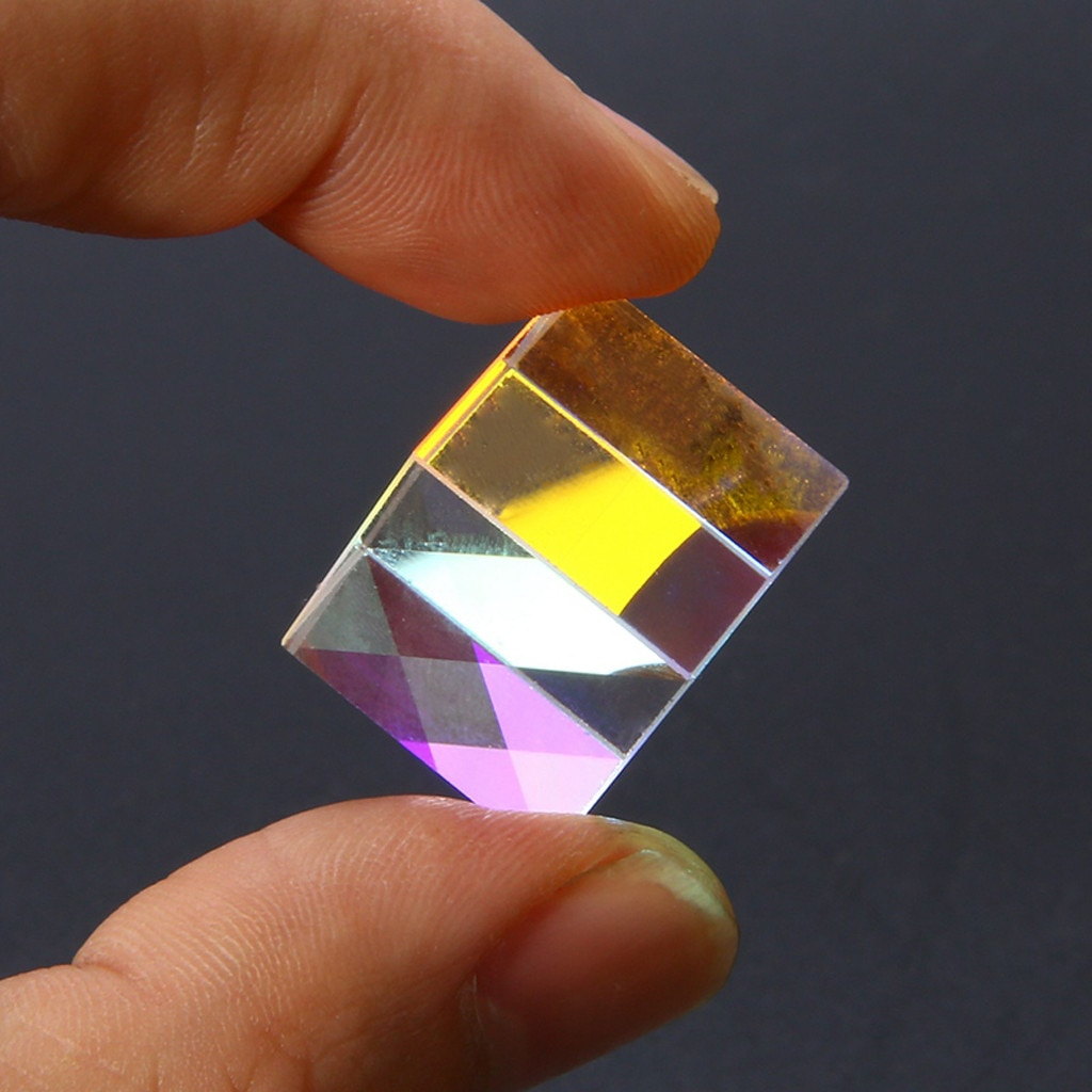 Optical Experiment Instrument CMY Optical Prism Cubes - Optical Glass Prism, RGB Dispersion Six-Side