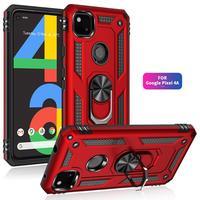 Противоударный чехол-Броня с магнитным кольцом для Google Pixel 4A 5 5A 6 Pro 4 XL 3A XL, 5G с подставкой, задняя крышка