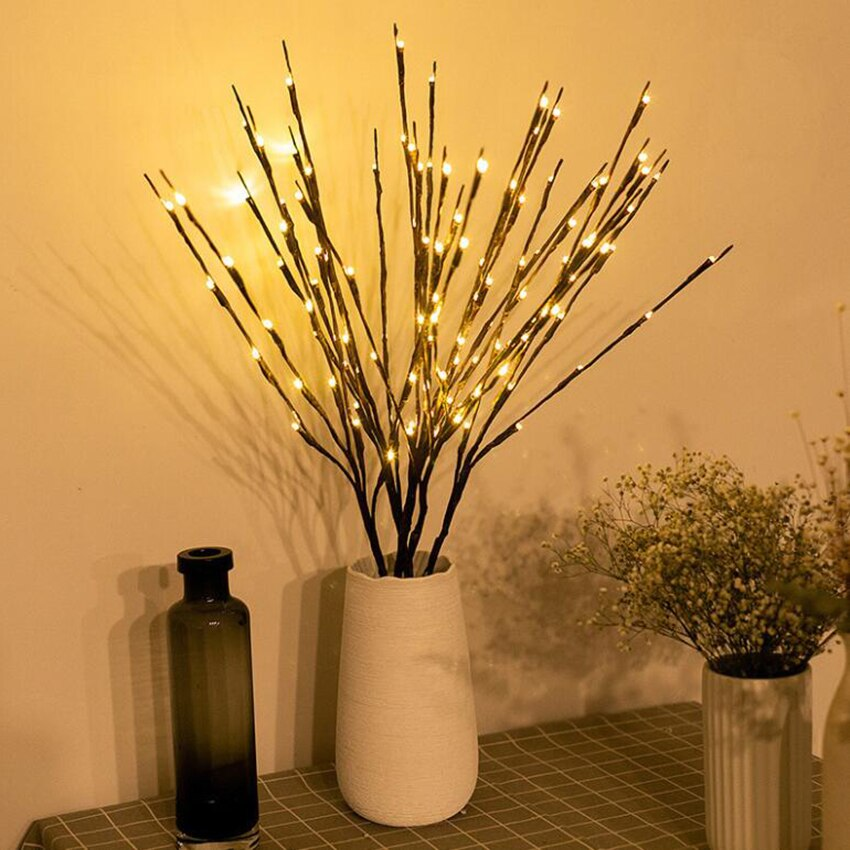 1PC Lighted Branch with Warm White / Colorful LED Bulb, Tree Flower Arrangement Light for Holiday Party Decoration