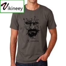 Hommes briser mauvais t-shirt Camisas été lâche drôle t-shirt pur coton mode t-shirt hommes imprimer heisenberg t-shirt
