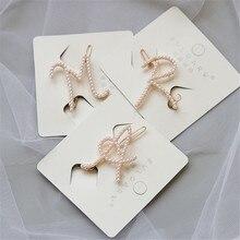 1 pc moda elegante feminino meninas carta pérola hairpins coreano novo estilo doce meninas grampos de cabelo acessórios para o cabelo