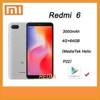 Телефон Xiaomi Redmi 6, 4 ГБ, 64 ГБ, googleplay с глобальной рамой