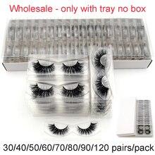 Faux-cils en vison sans vison, volume 3D, bouclés naturels, épais et croisés, 30/40/50/60/70/80/90/120 paires/paquet