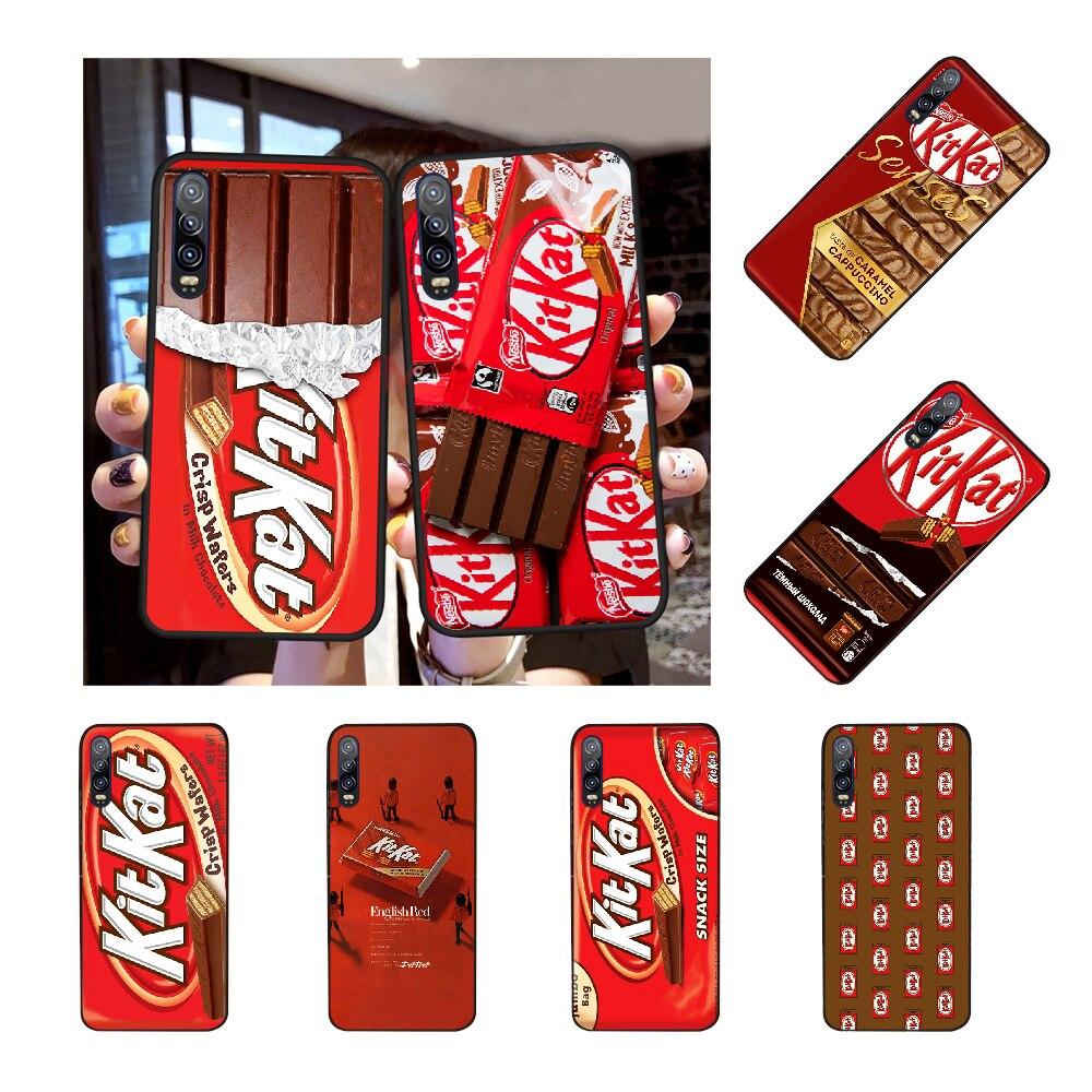 NBDRUICAI kit kat chocolate kitkat DIY pintado Bling caja del teléfono para Huawei Honor 20 10 9 8 8x 8c 9x 7c 7a Lite ver