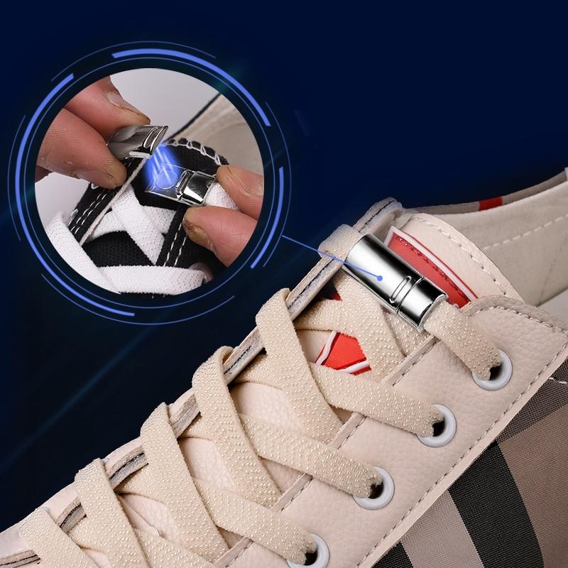 AliExpress - 1Pair Magnetic Shoelaces Unisex Sneakers Shoe Laces Elastic Locking ShoeLace Creative Quick No Tie Shoe laces Kids Adult Laces