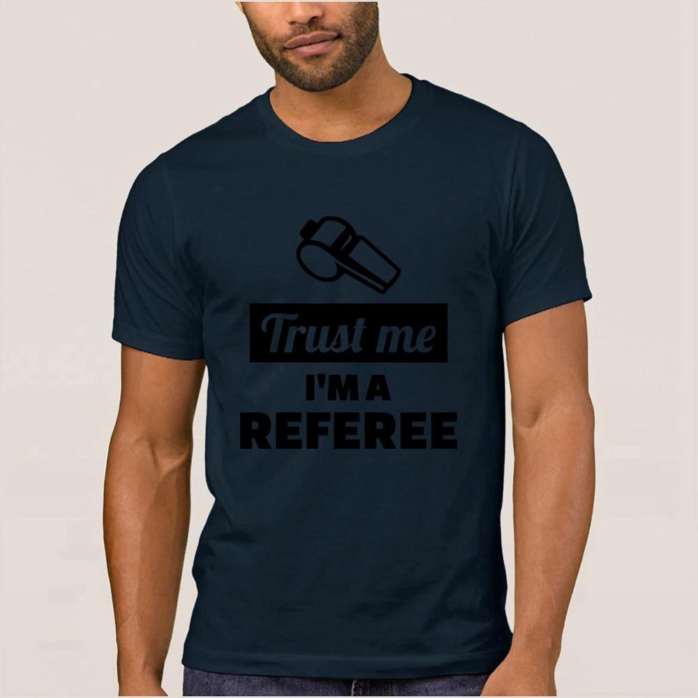 Árbitro T Shirt para hombres manga corta de punto interesante camiseta verano Camisas camiseta tamaño S-3xl equipada Camisas de hip hop