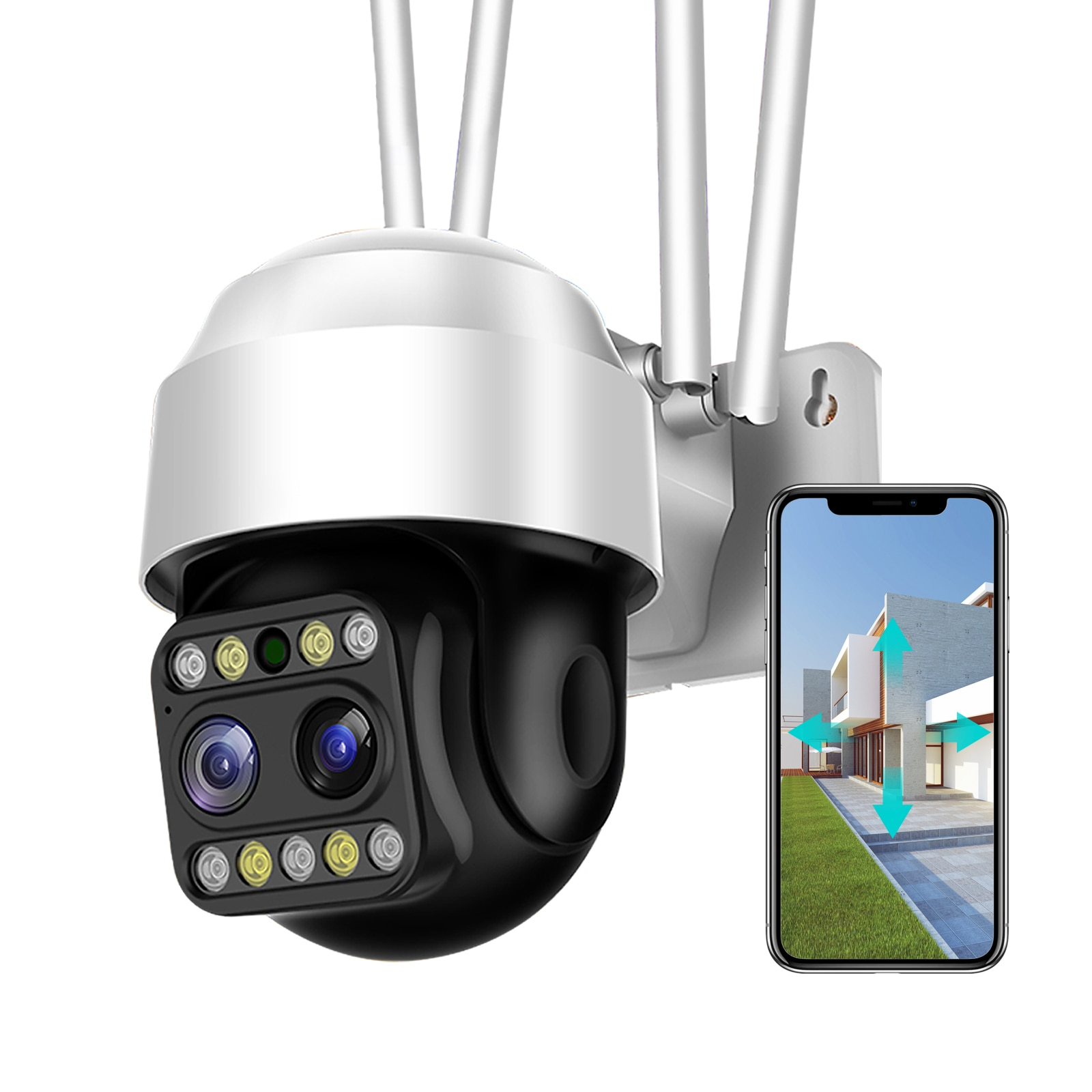 Sdeter-كاميرا مراقبة خارجية على شكل قبة PTZ IP Wifi hd 2MP/1080P ، جهاز أمان لاسلكي ، مع تقريب رقمي x4