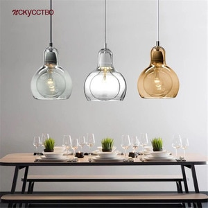 Nordic Modern Colored Glass Gourd Pendant Lights For Dining Room Bar Cafe Dropshipping Personality Hanging Lamp Art Deco Fixture