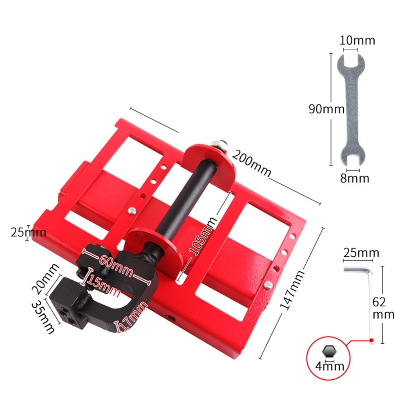 2020 New Lumber Cutting Guide Saw Woodworking Steel Timber Chainsaw Attachment Cut Guided Mill Wood Chainsaw enlarge