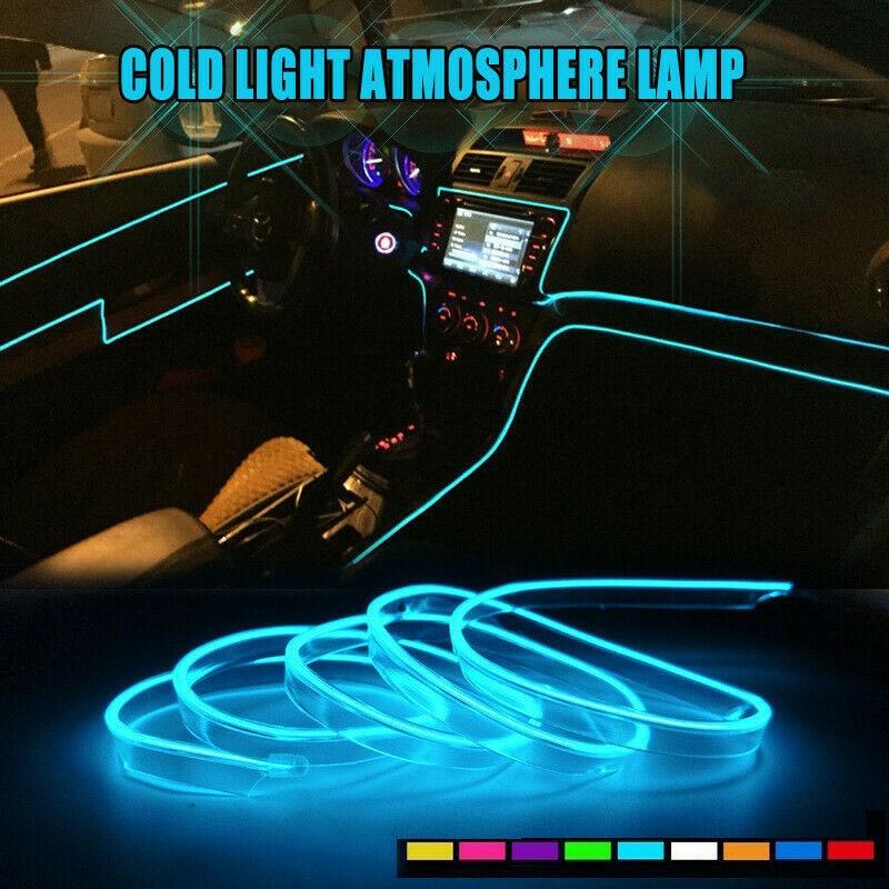1 м, 3 м, 5 м, светодиодный холодный светильник, источник света, лампа для украшения автомобиля, неоновая лампа 6 мм, шовный EL светодиодный свети...