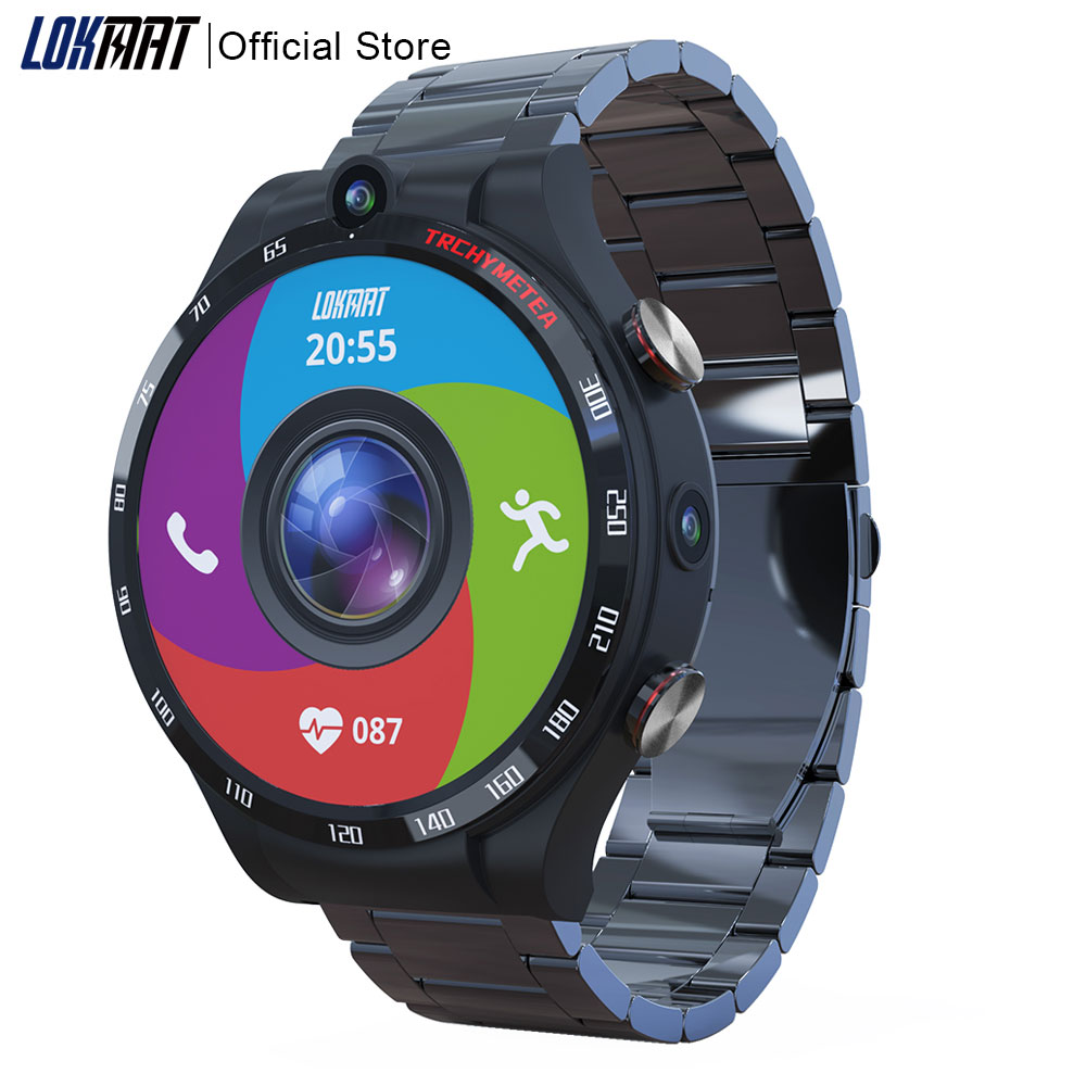 Get LOKMAT 1.6″ Display APPLLP 4 Smart Watch Phone 4GB+128GB 900mAh Android 10 WIFI GPS Smartwatch Men For Android IOS Phone
