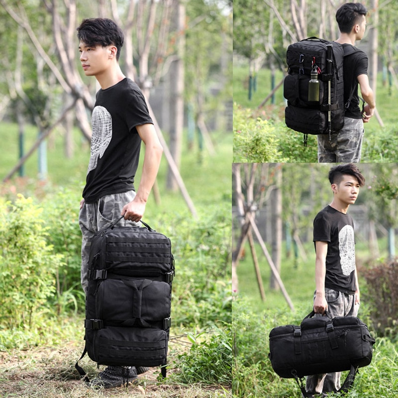 55L Large Capacity Man Army Tactical Backpacks Military Assault Bags Outdoor Sport Hiking Camping Climbing Hunting For Travel