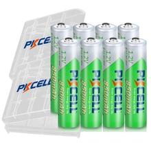 8 шт. PKCELL aaa аккумулятор 1,2 в NIMHAAA перезаряжаемые батареи 3A Ni MH низкая саморазряжающаяся 850 мАч с 2 шт. держатель батареи коробка чехлы