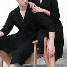 Open Stitching Fabulous Skin-friendly Male luxury Bathrobe Loose Men Pajamas Solid Color Robe Bandag