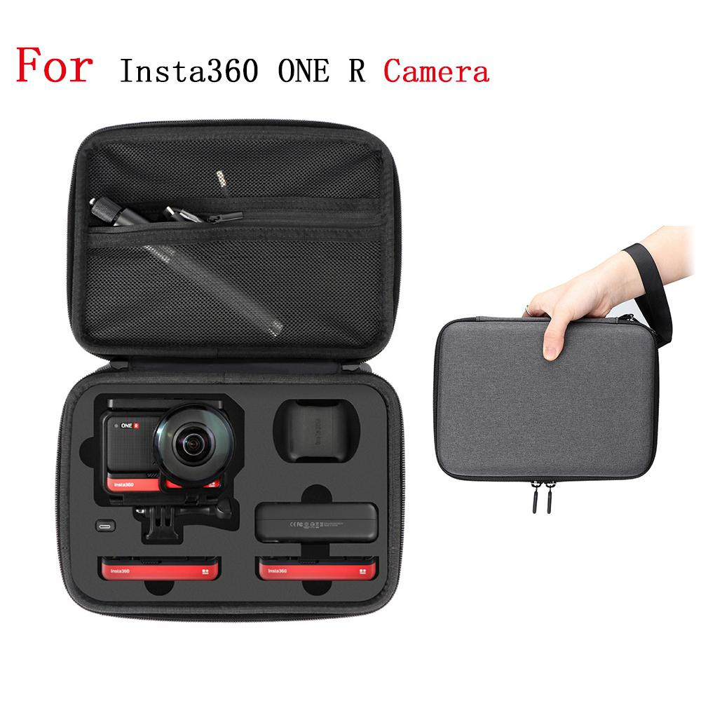 For Insta360 ONE R 4K Sports Camera Portable Storage Bag Protection Box Carrying Case with Strap Action Camera Accessories
