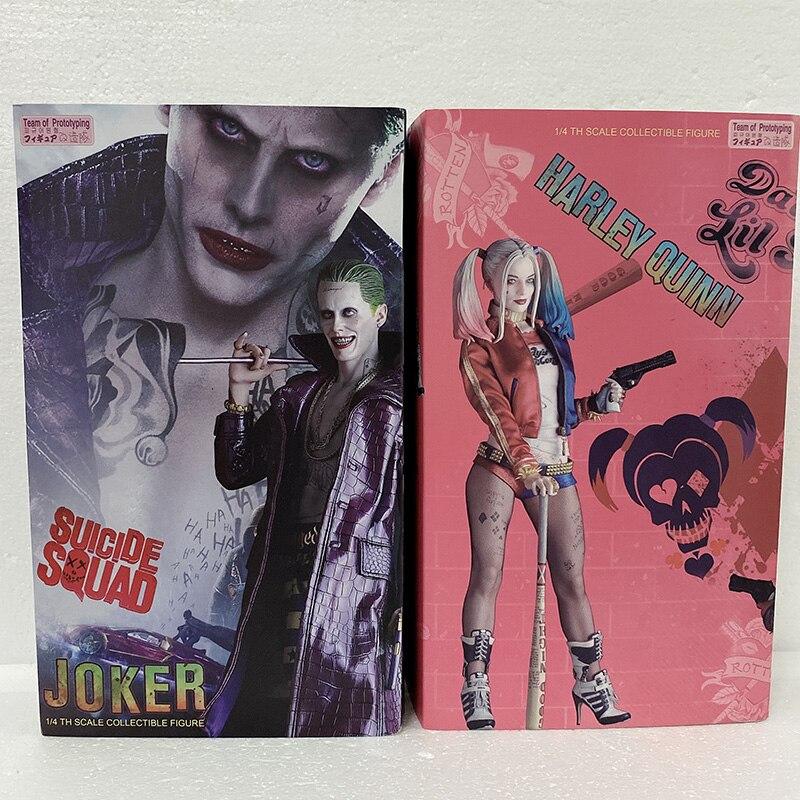 43 см команда прототипов Сумасшедшие игрушки фигурка отряд самоубийц Джокер фигурку 1/4 масштаб окрашенная фигура Куинн фигурки Куклы