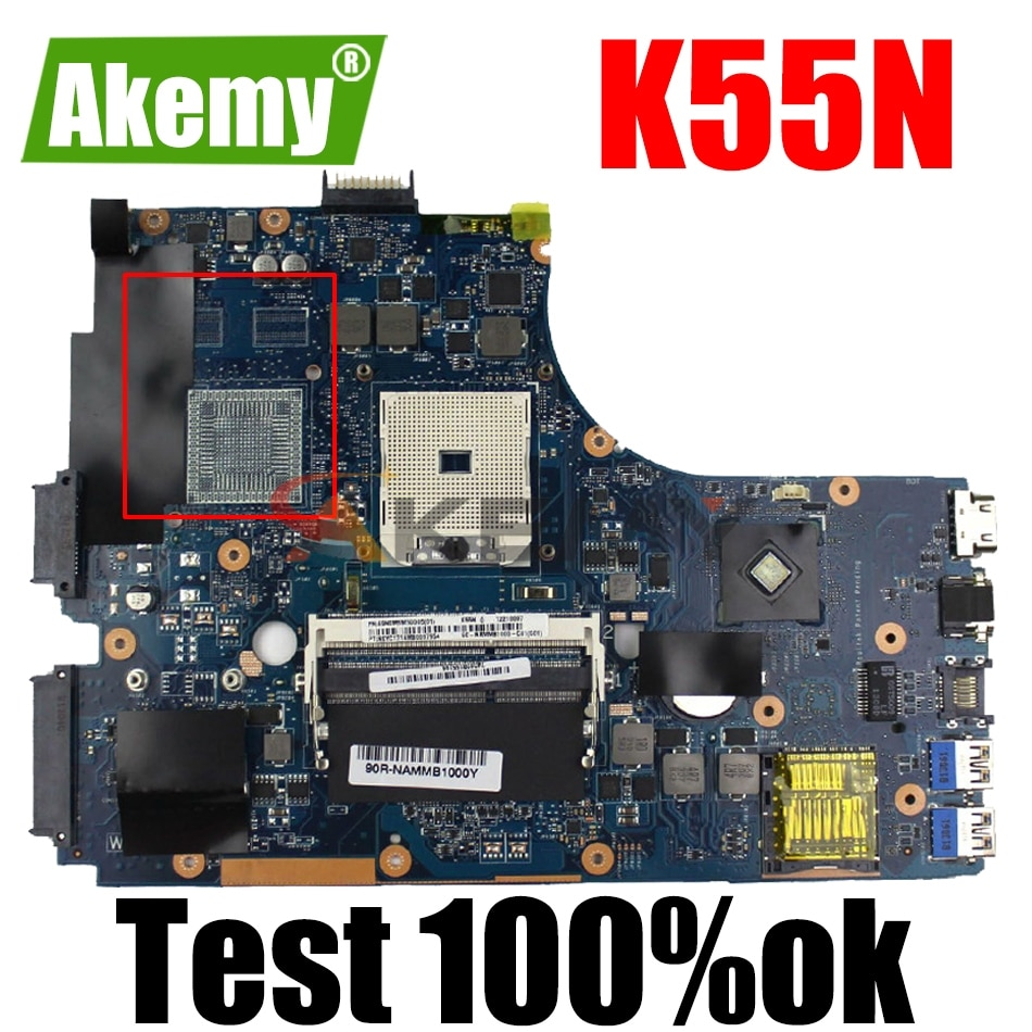 AKEMY K55N لوحة الأم للكمبيوتر المحمول ASUS K55N K55DE K55DR K55D K55 اختبار اللوحة الرئيسية الأصلية