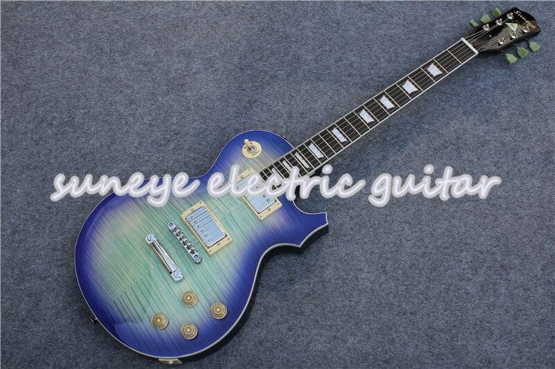 Guitarra eléctrica con acabado de tigre Suneye, herramienta de cromo estándar, Kit...