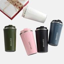 510/380ML podwójna butelka na wodę termos ze stali nierdzewnej kubek kawy zagęszczony podróży kubek termiczny na prezenty termos Termo Cafe