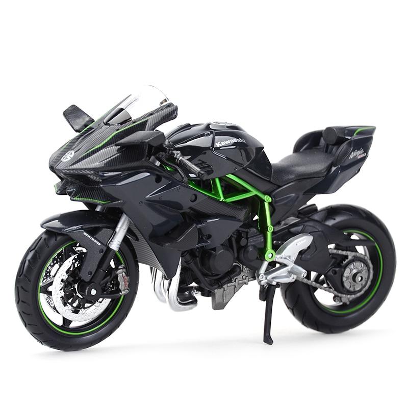 Maisto 1:12 Kawasaki Ninja H2 R черный литой Сплав модель мотоцикла Игрушка