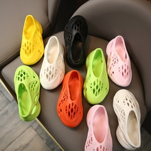 Summer New Fashion Kids Boys and Girls Coconut Hole Shoes Ins Roman Sandals Baotou Beach Shoes Child