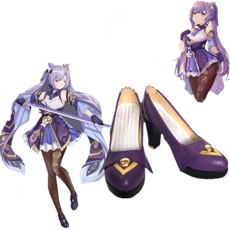 Zapatos de Cosplay de juego de la isla de Kyushu impacto Keqing...