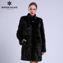 2020 nouveau style de mode naturel mlnk col montant bonne qualité mlnk manteau de fourrure femmes naturel noir manteaux de mlnk