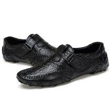 Fashion Men Genuine Leather Shoes High Quality Men's Casual Shoes Comfortable Men Flats Man Shoes Le