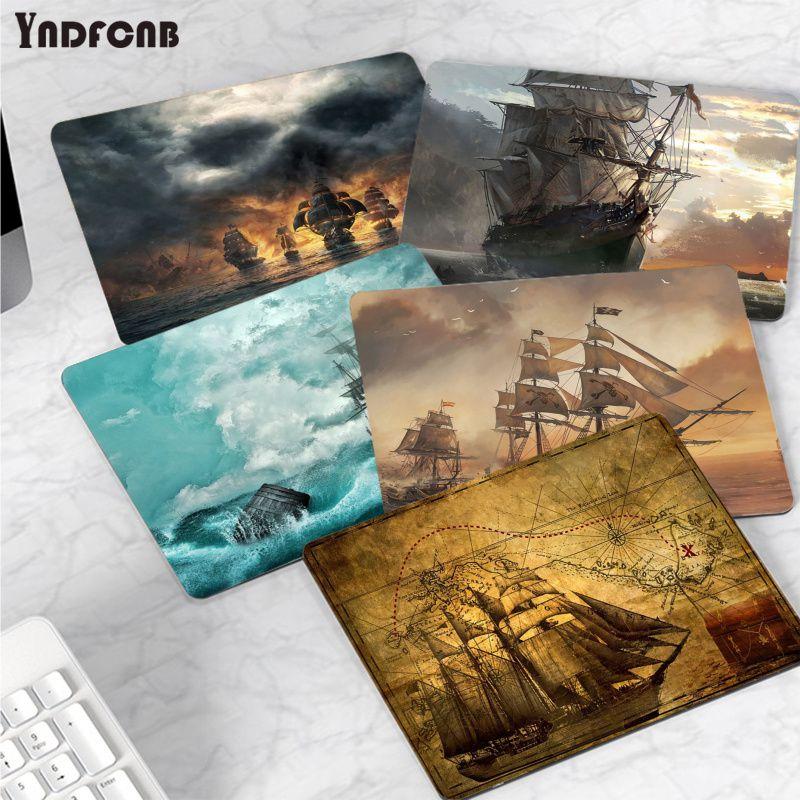 Простой дизайн, коврик для мыши YNDFCNB с пиратским кораблем, геймерские игровые коврики или Overwatchs, гладкий коврик для письма, настольные компь...