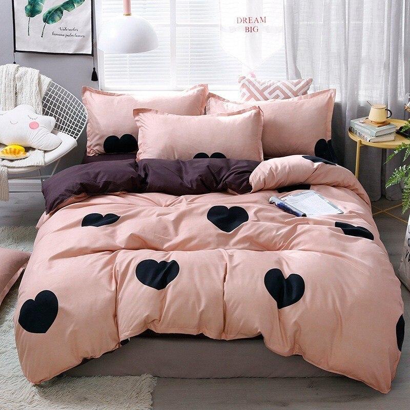 المنسوجات المنزلية طقم سرير الأخضر طفل في سن المراهقة الجزرة الأرنب حاف غطاء لحاف المخدة غطاء سرير الملك الملكة التوأم كامل الكتان