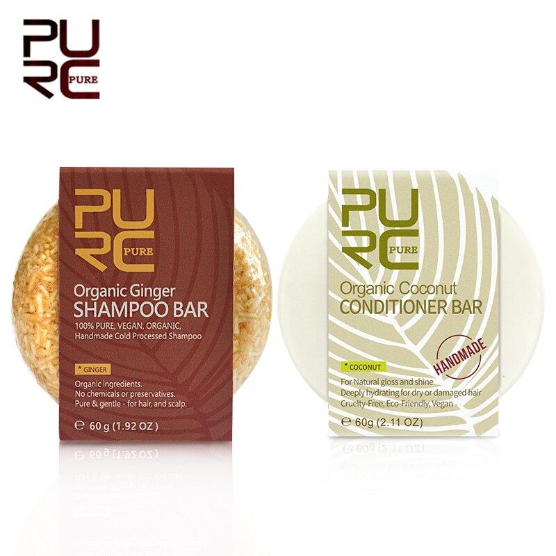 PURC-champú orgánico hecho a mano, Set para el cuidado del cabello, champú para la pérdida de cabello, Set de champú sólido para el cuidado del cabello Natural, 11,11