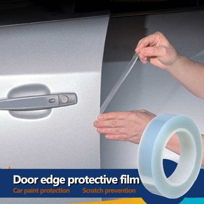 1,5*5CM pegatinas de coche Umbral de puerta etiqueta de protección multifunción Nano cinta Auto parachoques tira proteger accesorios a prueba de arañazos