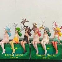 creative forest spirit dorothy action figure blind box birthday gift boy girl toy home decor accessories elf deer antlers girl