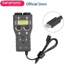 Saramonic 2 pistes XLR & 3.5mm micro table de mixage + guitare Interface Audio pour appareils USB type-c Samsung Xiaomi Huawei